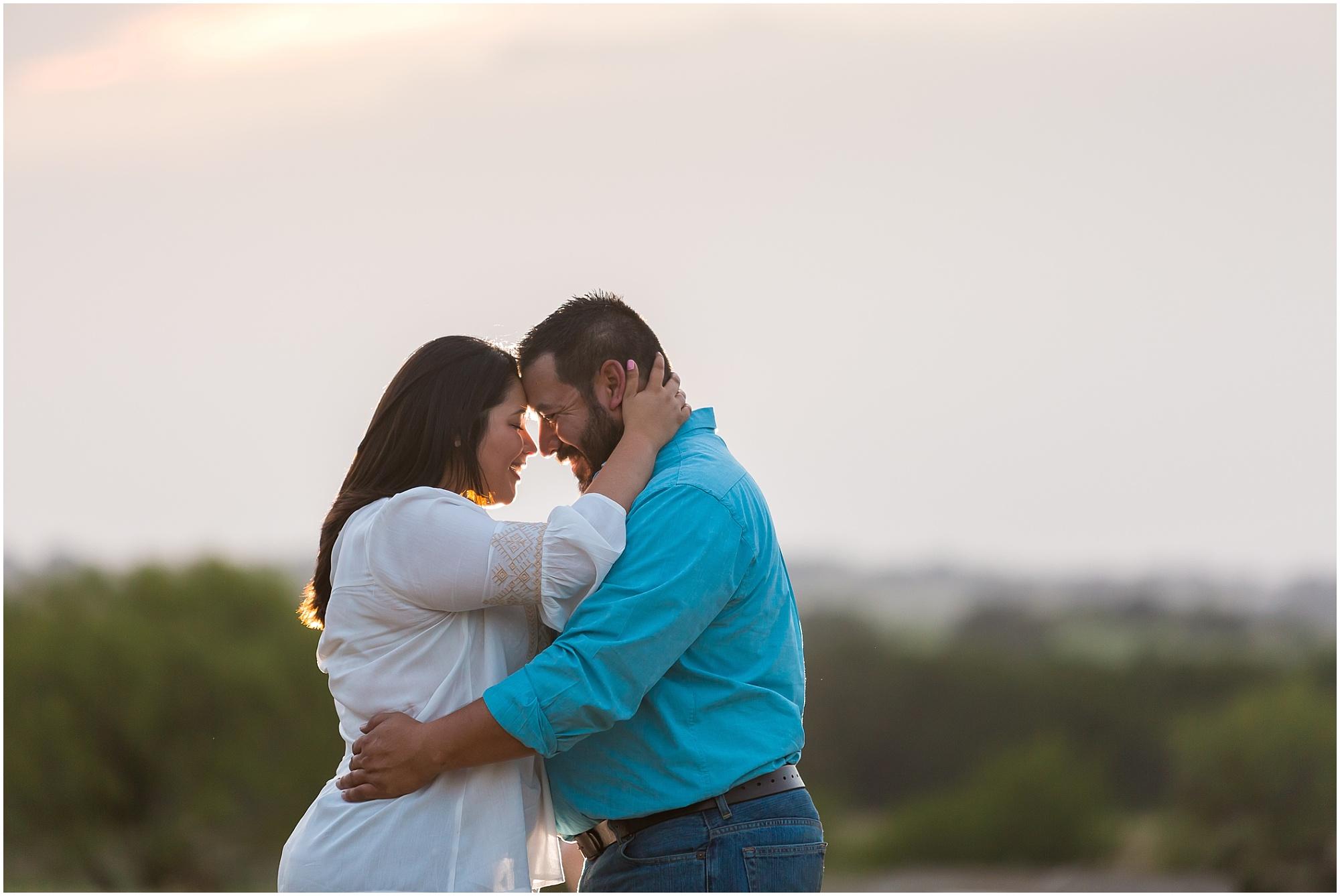Romantic engagement portraits on a family ranch in Dublin, TX - Jason & Melaina Photography - www.jasonandmelaina.com