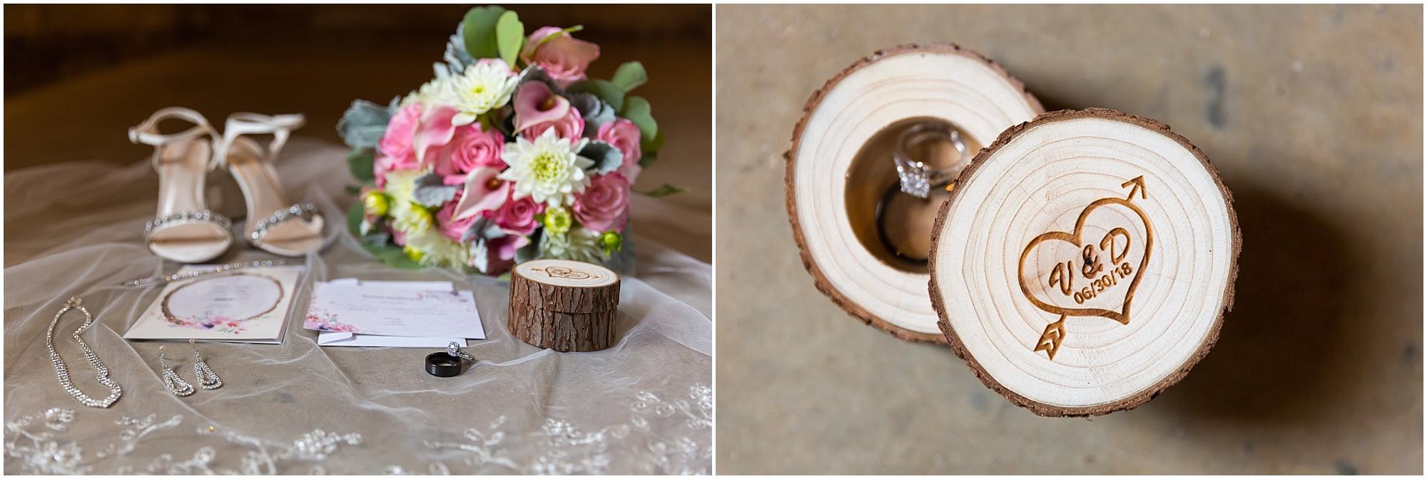 Rustic wedding details, wooden ring box - Jason & Melaina Photography