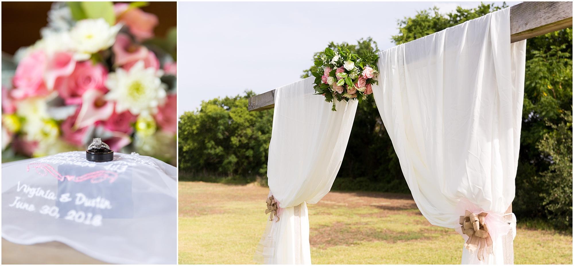 Rustic wedding details, ring shot and flowers - Jason & Melaina Photography