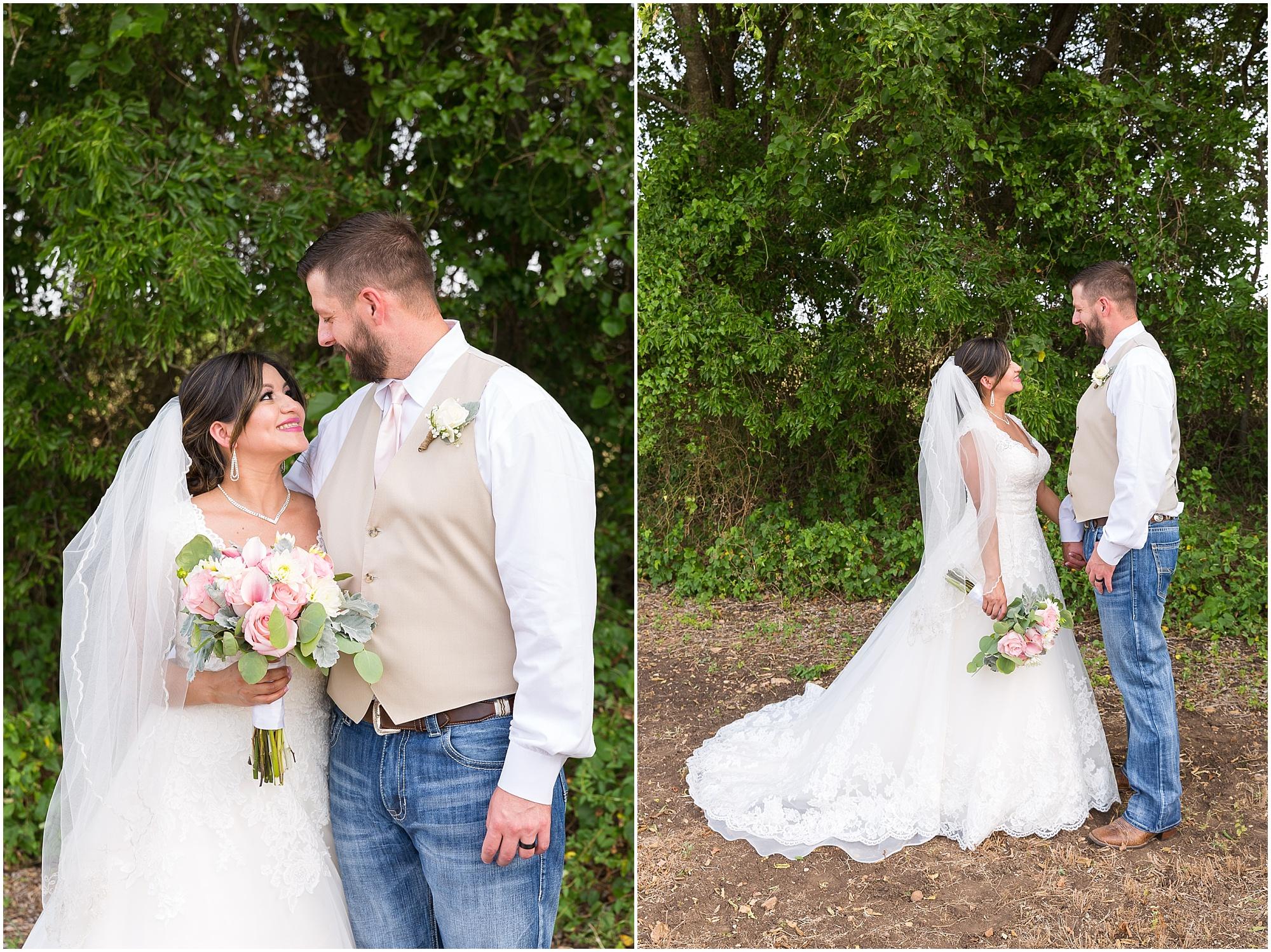 A bride and groom smile at each other after their wedding ceremony - Jason & Melaina Photography - www.jasonandmelaina.com