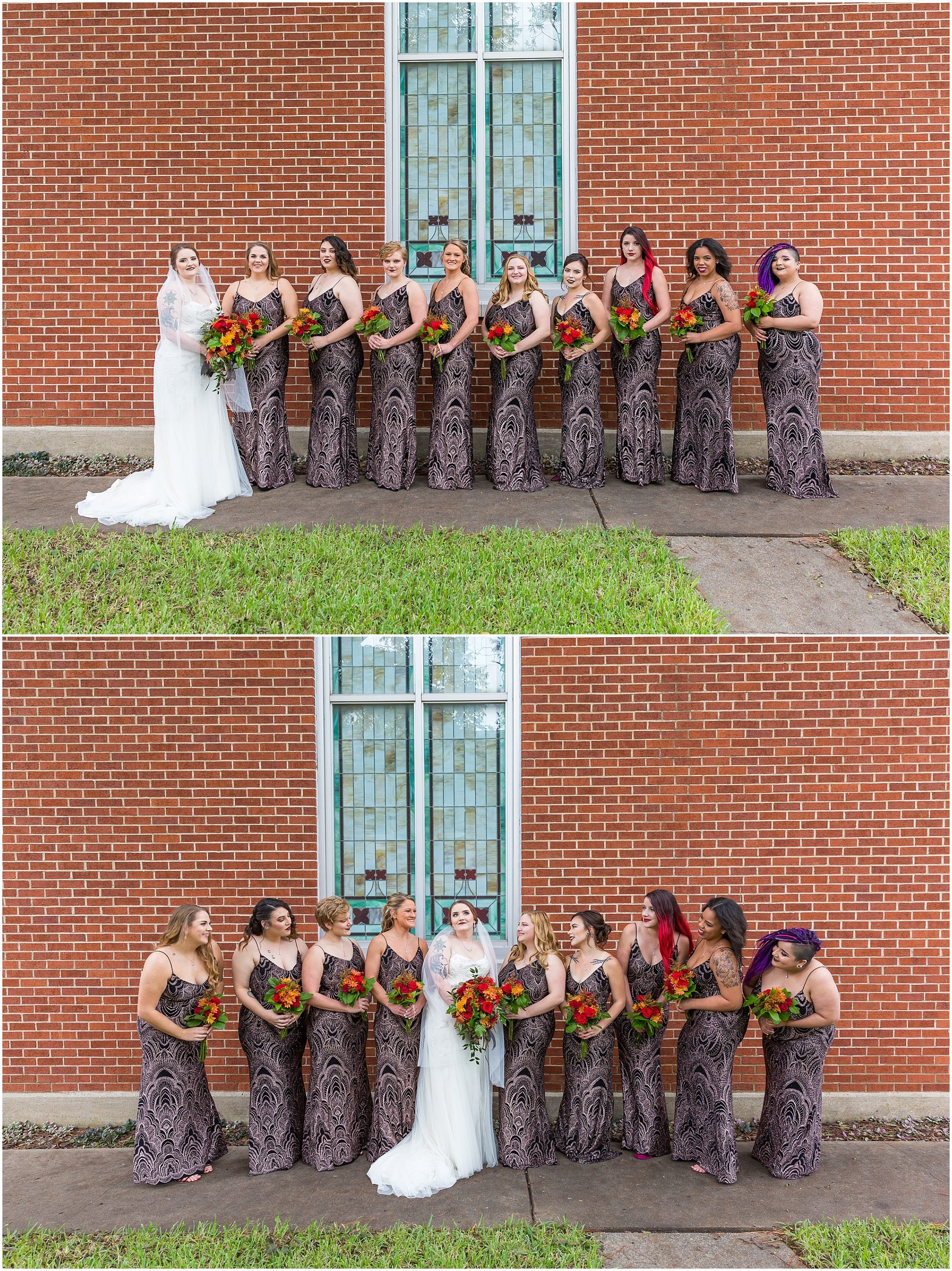 Gothic bridesmaid dresses for Fall wedding in Waco, TX - Jason & Melaina Photography - http://jasonandmelaina.com
