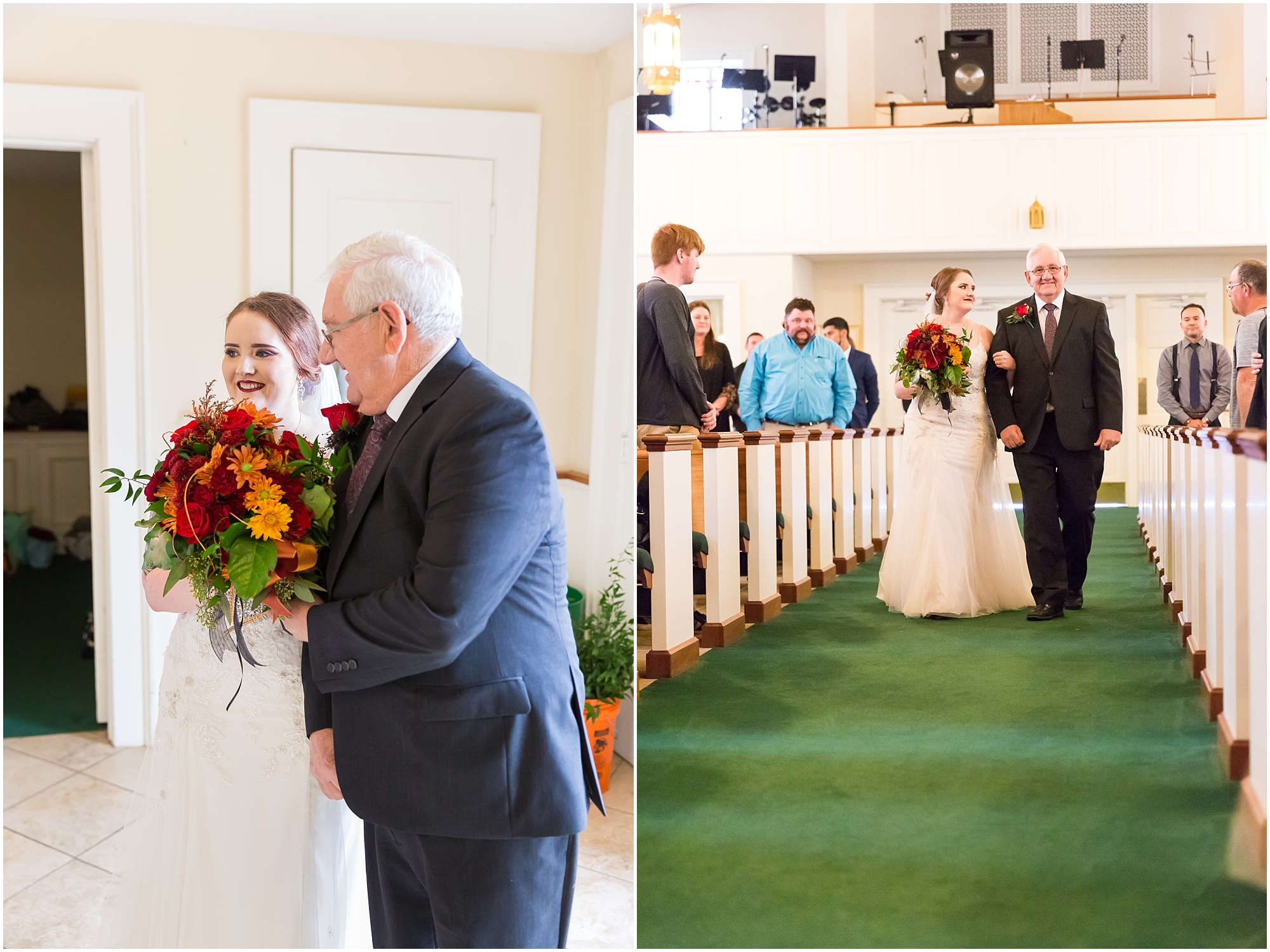 Grandfather walks bride down the aisle - Fall wedding in Waco, TX - Jason & Melaina Photography - http://jasonandmelaina.com