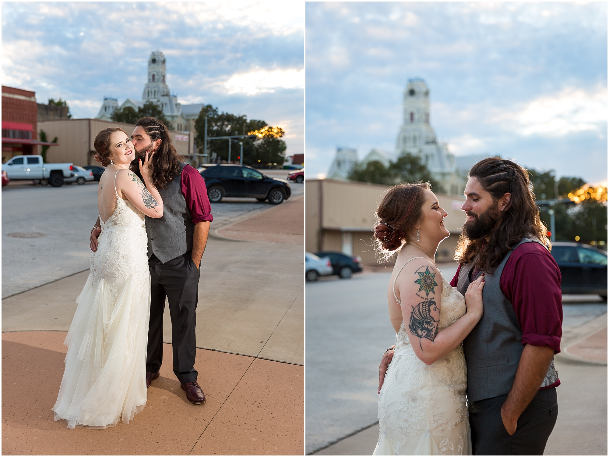 Sunset portraits in downtown Hillsboro, Tx - Jason & Melaina Photography - http://jasonandmelaina.com