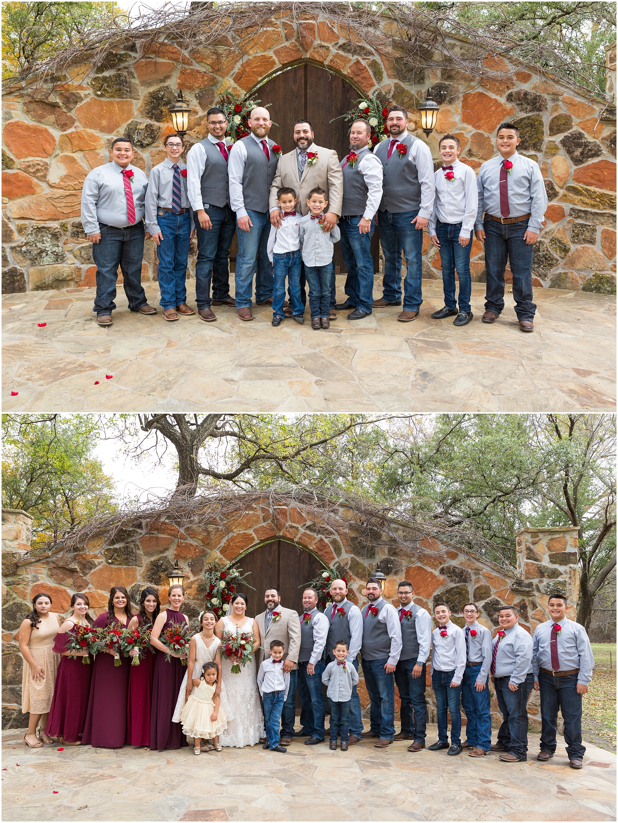 Bridal party portrait - Dove Creek Ranch in Dublin, Texas - Jason & Melaina Photography - www.jasonandmelaina.com