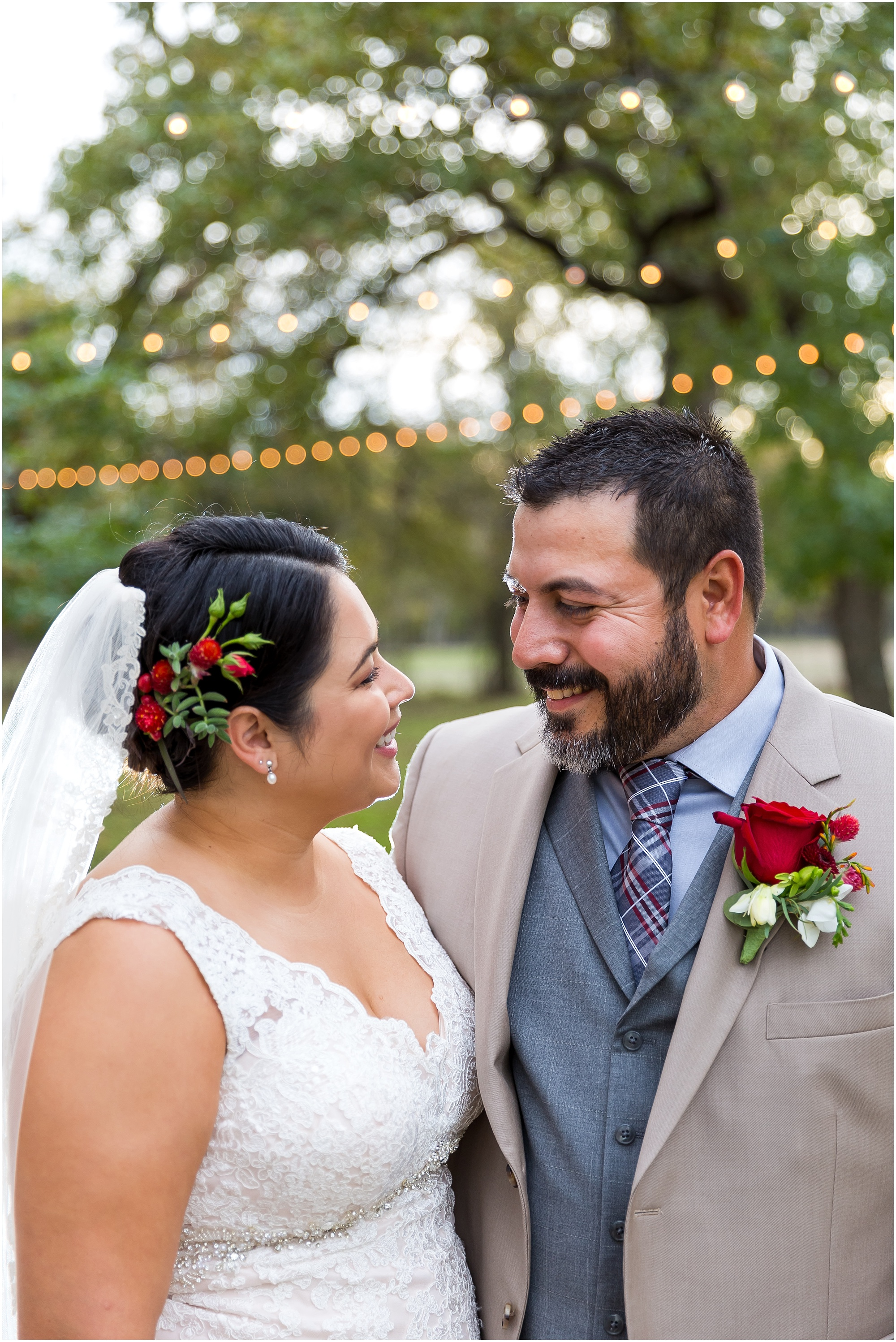Groom looks lovingly at his new bride - Dove Creek Ranch in Dublin, Texas - Jason & Melaina Photography - www.jasonandmelaina.com