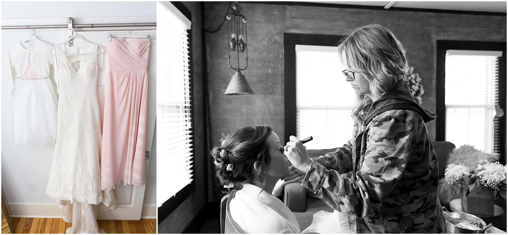 Bride getting ready in Fixer Upper house in Waco, Texas - Jason & Melaina Photography - www.jasonandmelaina.com