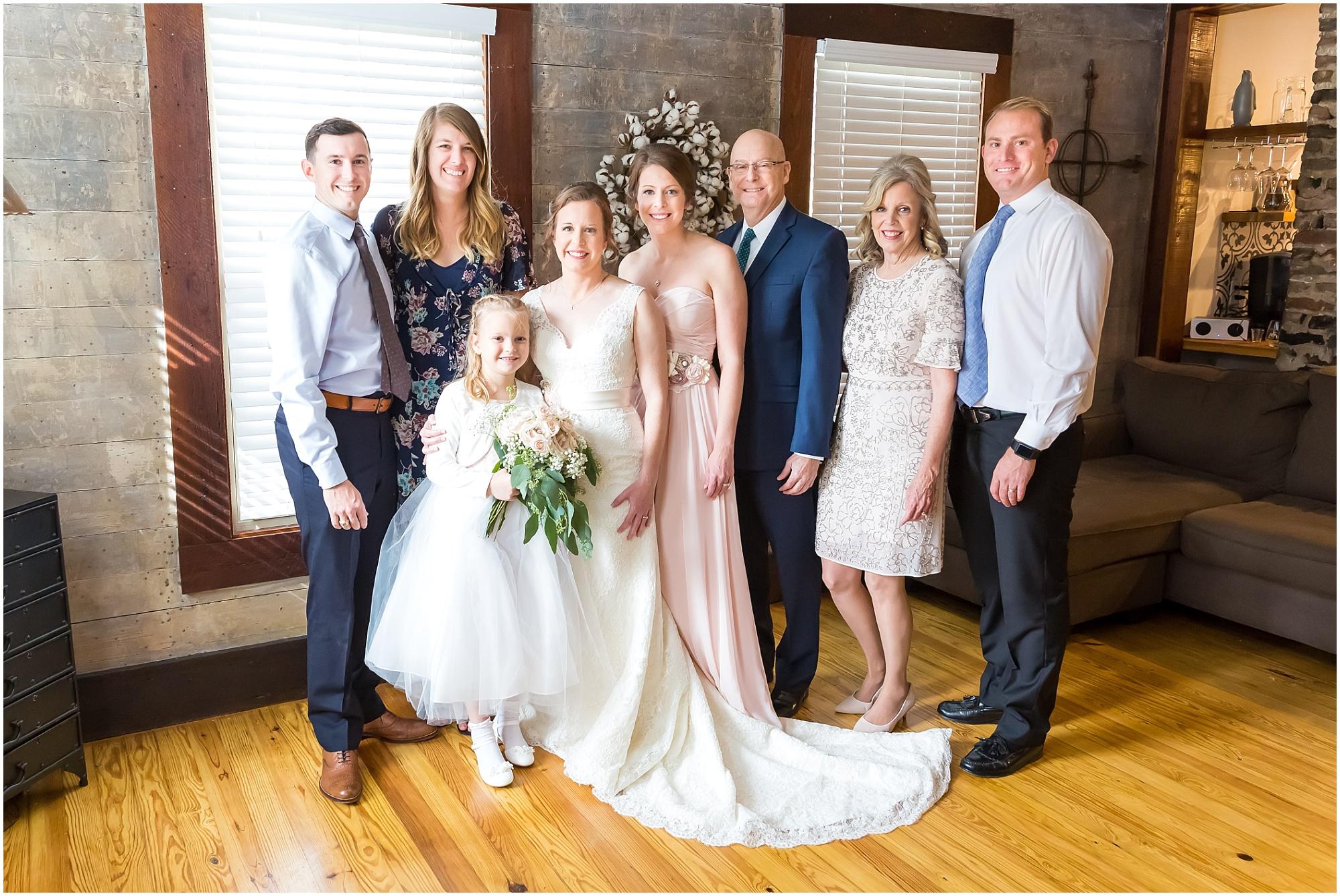 Bride's family before the ceremony at The Chapel at Meyer Center in Waco, Texas - Jason & Melaina Photography - www.jasonandmelaina.com