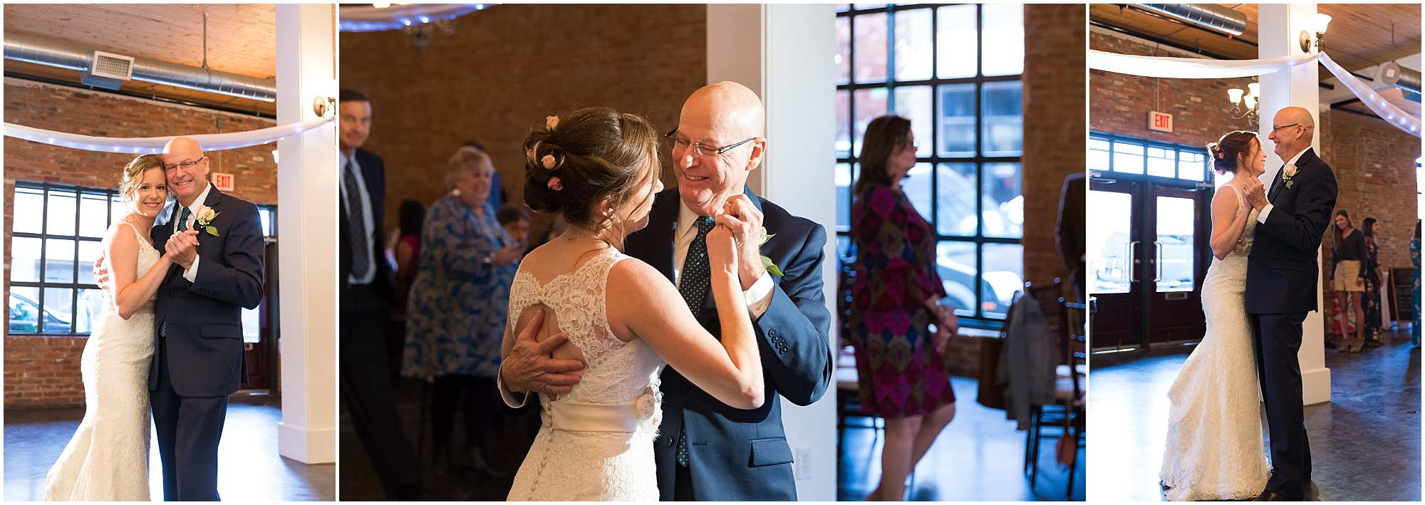 Father-daughter dance at reception at The Palladium - Jason & Melaina Photography - www.jasonandmelaina.com