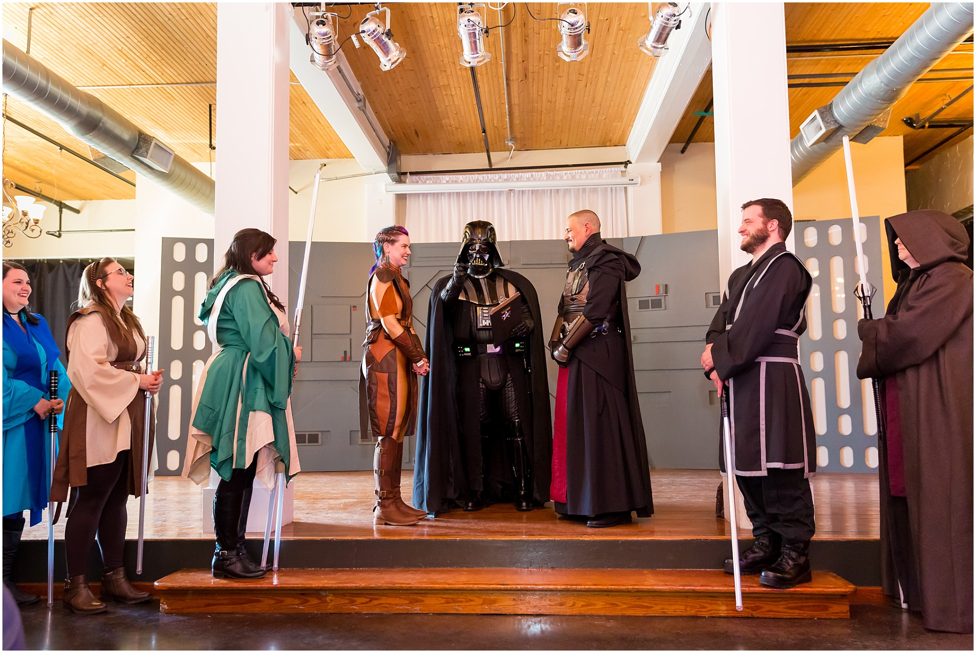Star Wars wedding ceremony on May the 4th at The Palladium in Waco, Texas - Jason & Melaina Photography