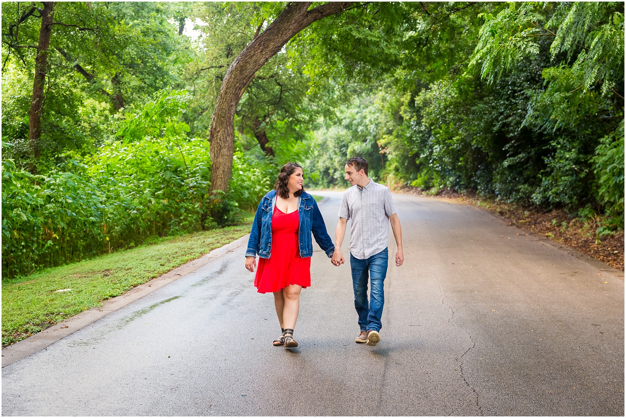An engagement session in the rain at Cameron Park in Waco, Texas - Jason & Melaina Photography - www.jasonandmelaina.com