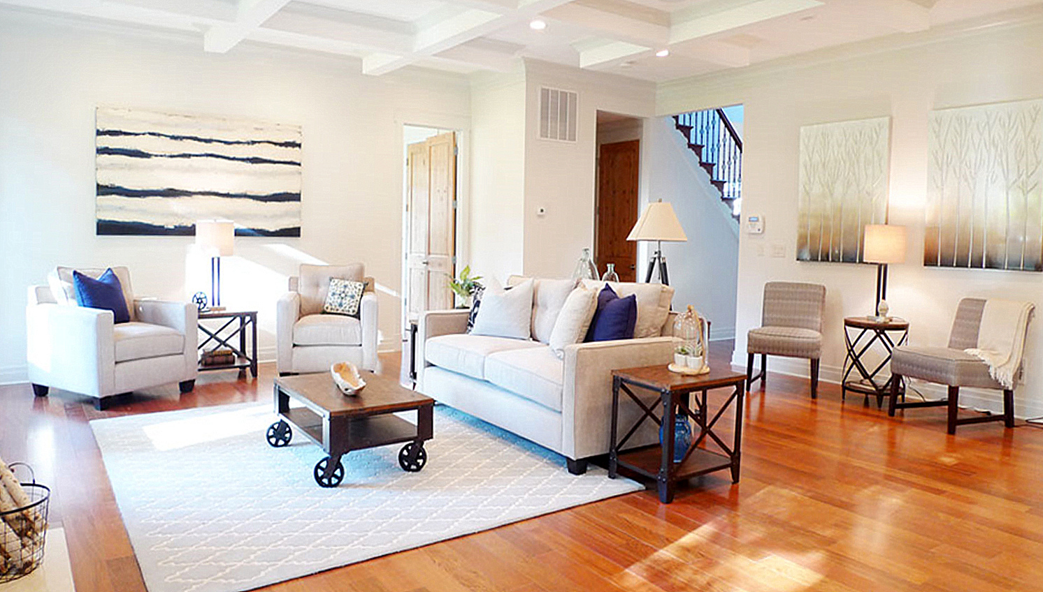 Reston Virginia home staging living room