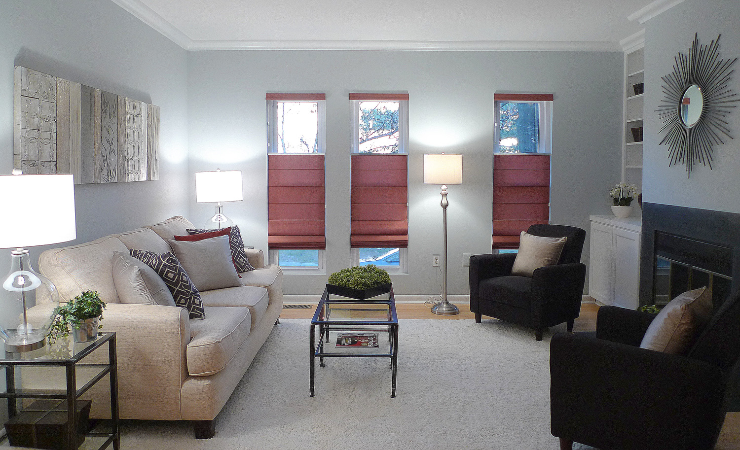 Vienna Virginia home staging living room