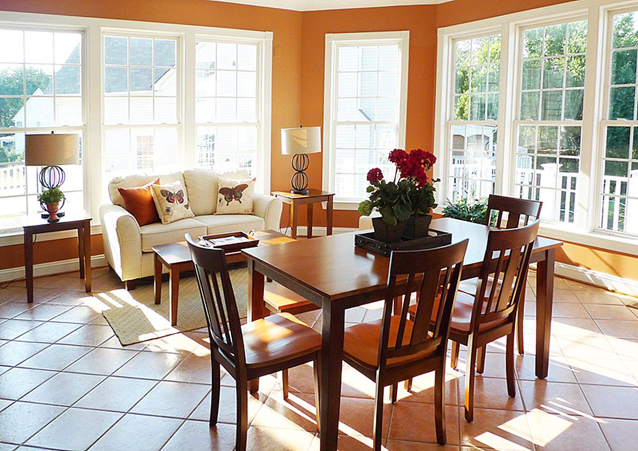 Vienna Virginia home staging sun room