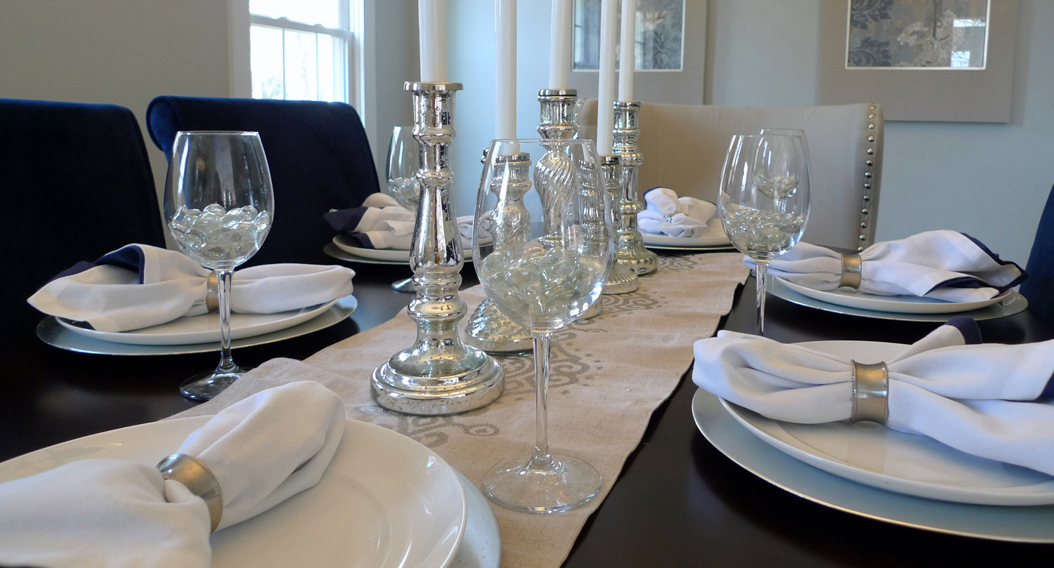 Potomac Maryland home staging dining room