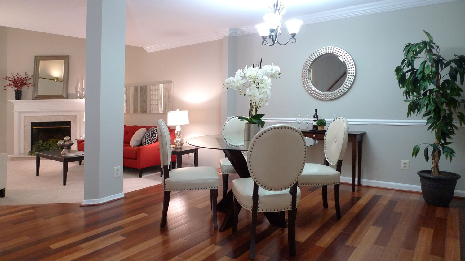 Alexandria Virginia Home Staging Living Room