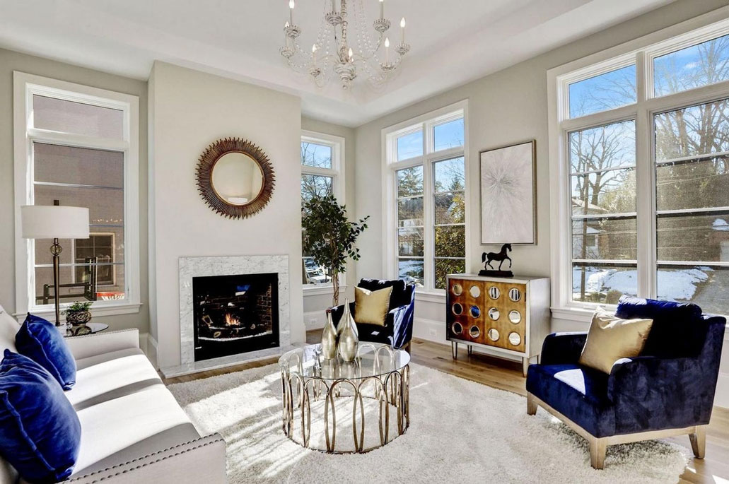 Arlington Virginia family room staged and sold