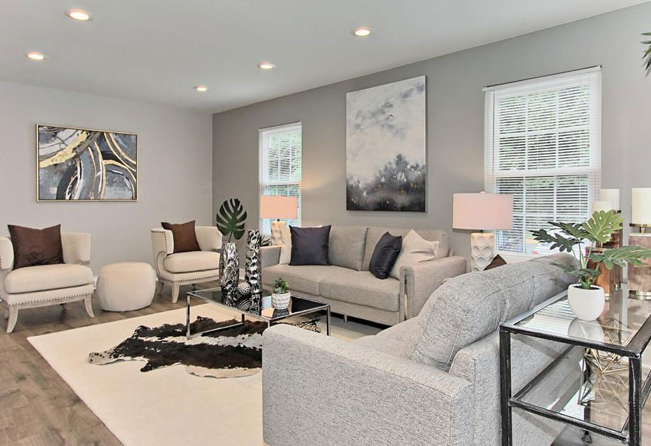 Bethesda Maryland family room staging