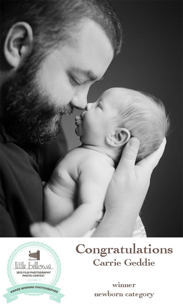 raleigh newborn photographer and 2015 little bellows film photography contest winner