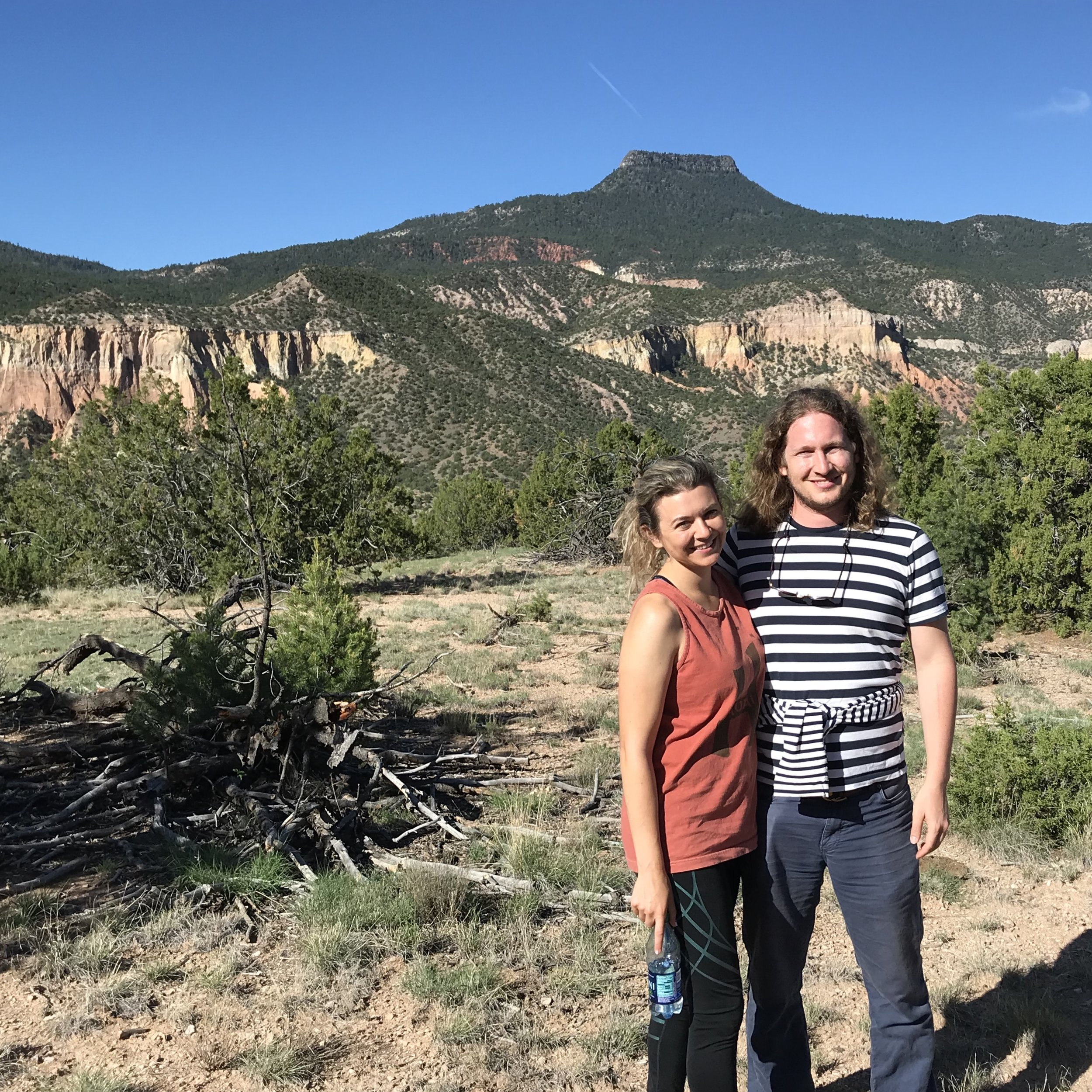 My partner and me on a real estate trip to New Mexico | 2018