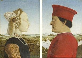 The Duke and Duchess by Piero della Francesca | 1465-1472 circa | Tempera on wood panel