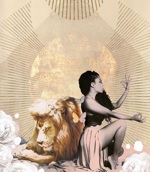 Lion and Woman magic healing