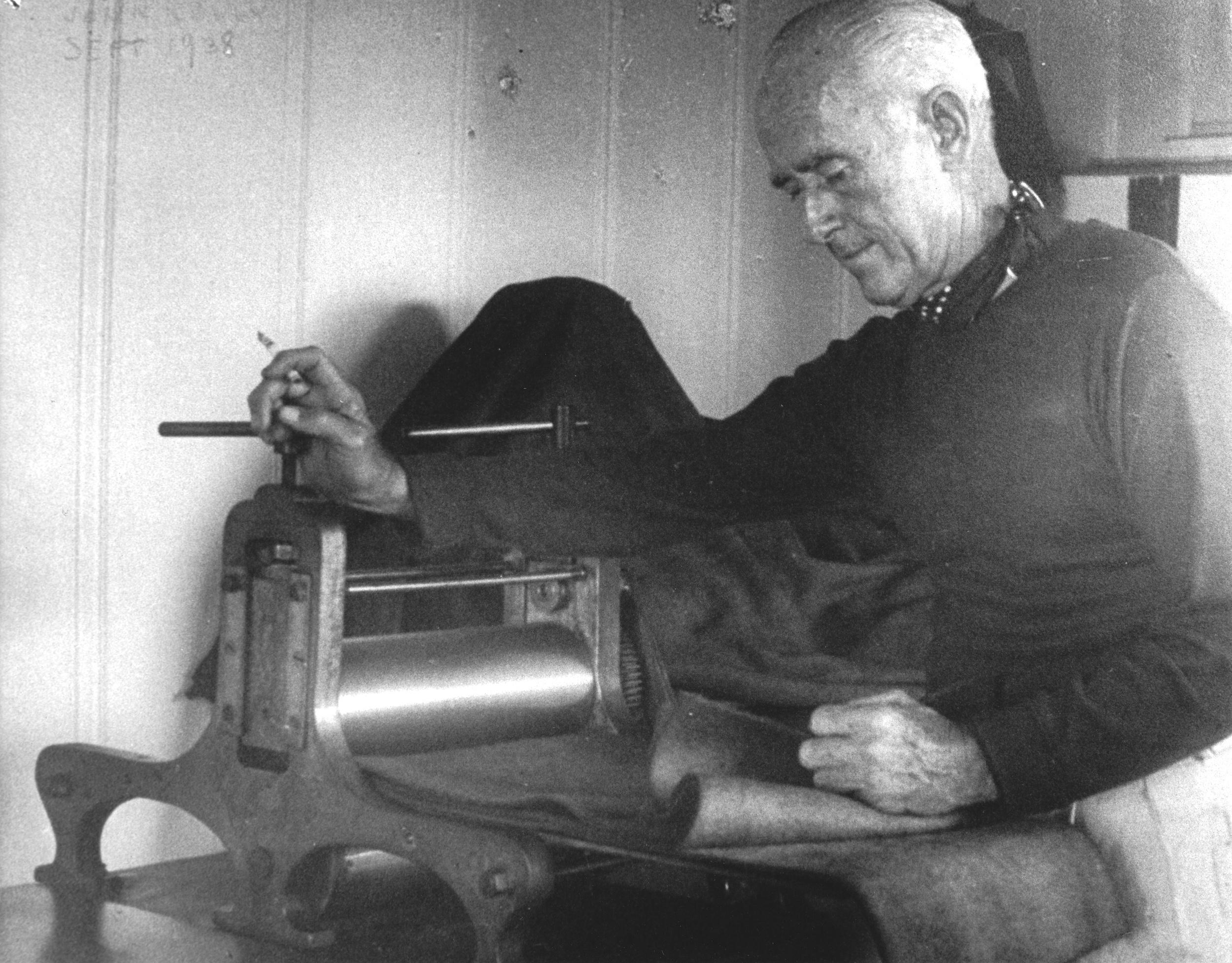 John Kelly at his press mid 1950's