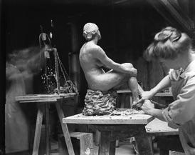 Kate Kelly sculpting