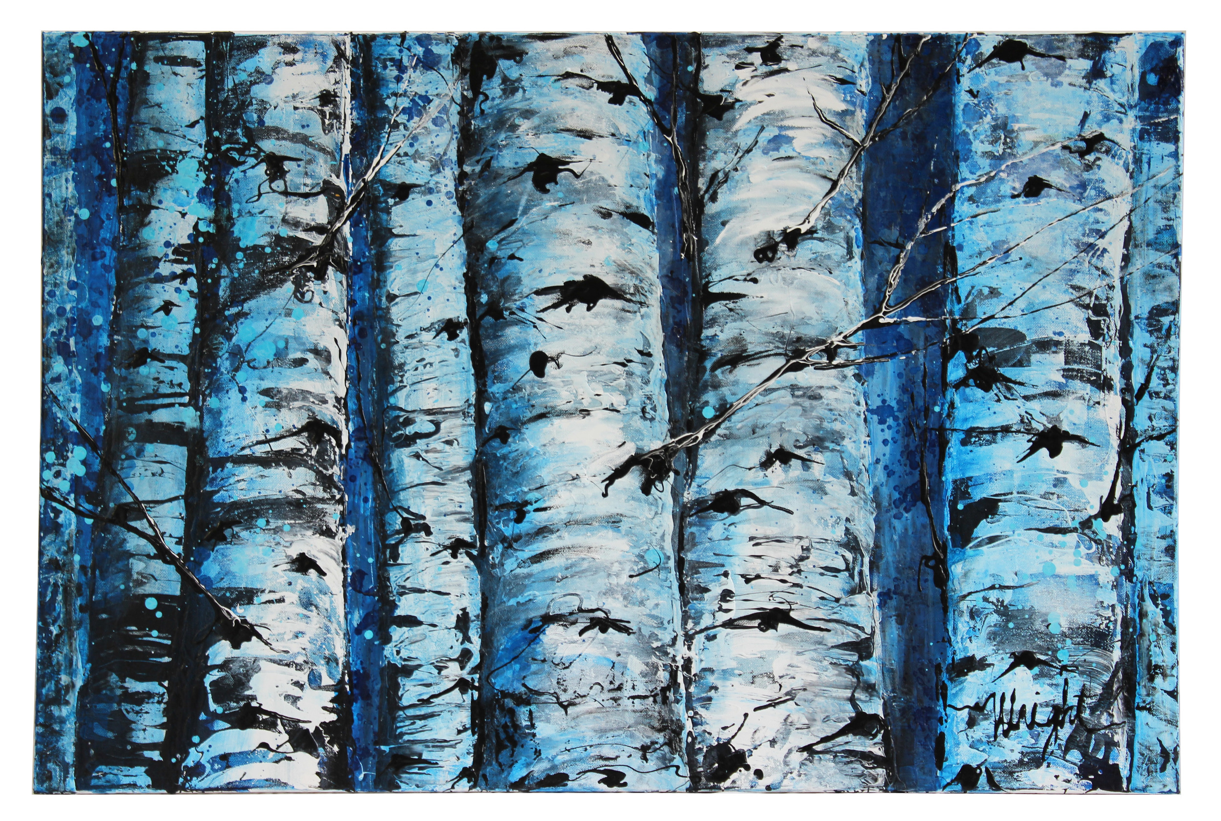 "Blue Aspen Trees. Independence Pass | 40x27.5"" (Framed)"