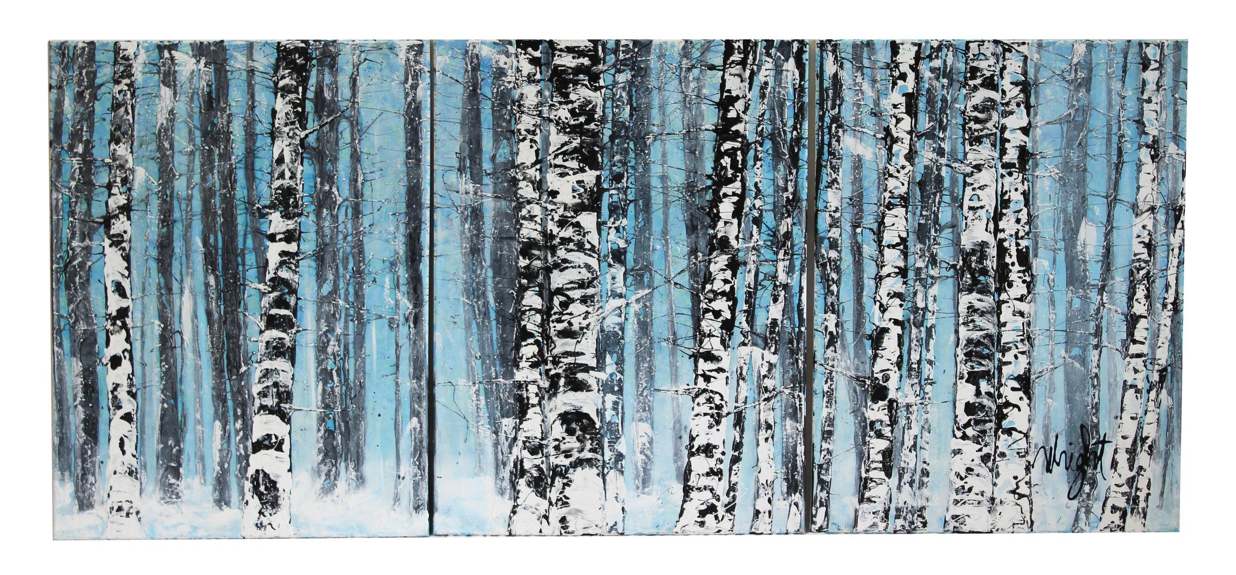 "Aspens (Triptych Set)   20x26"""