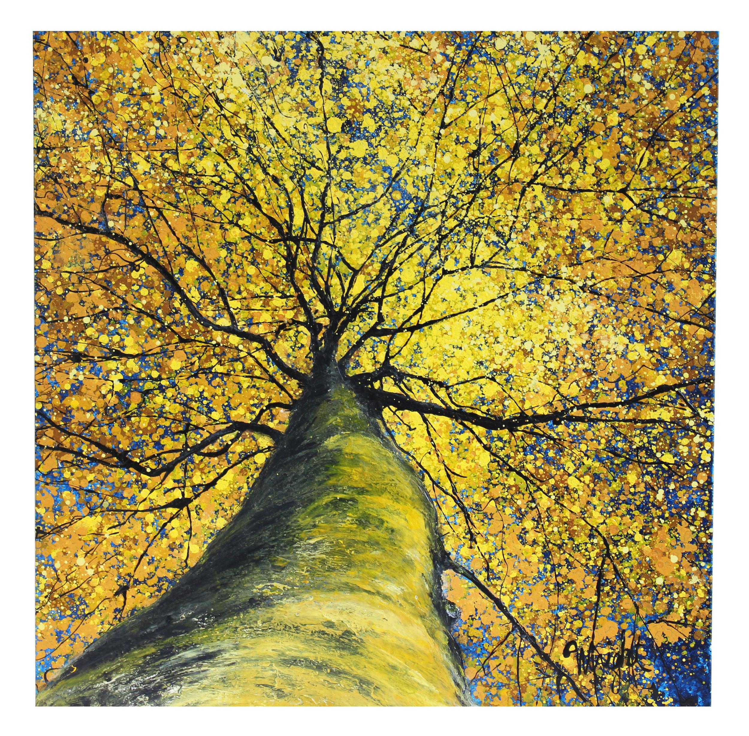 "Yellow Canopy | 36x36"""