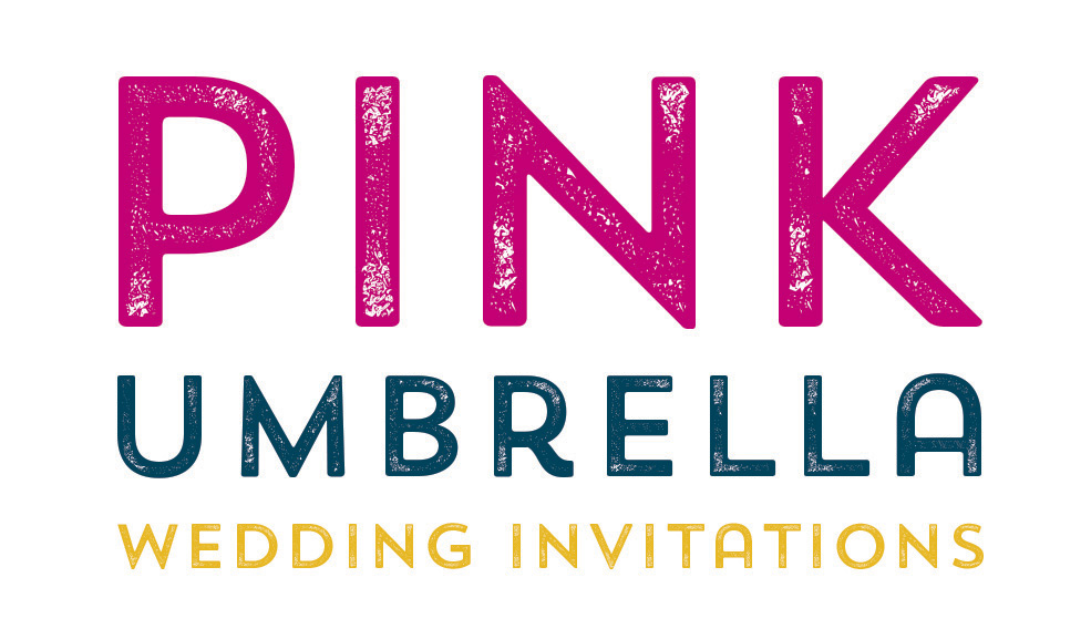 Pink Umbrella Wedding Inviations Calgary and Canmore