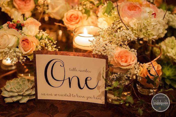 Calgary Bridal Guide Photoshoot - Wedding Invitations Table Number