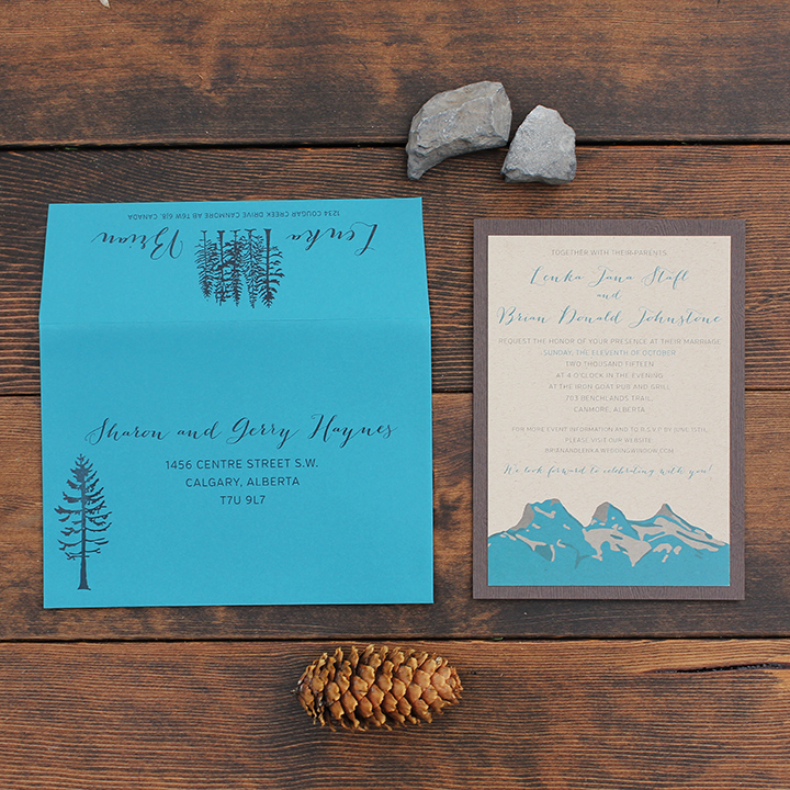 Canmore Three Sisters Wedding Invite Calgary Canmore Banff