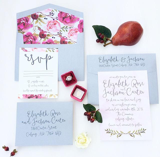 Calgary Wedding Invitations, Cochrane Canmore Banff