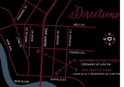 Custom Banff Wedding Map Location