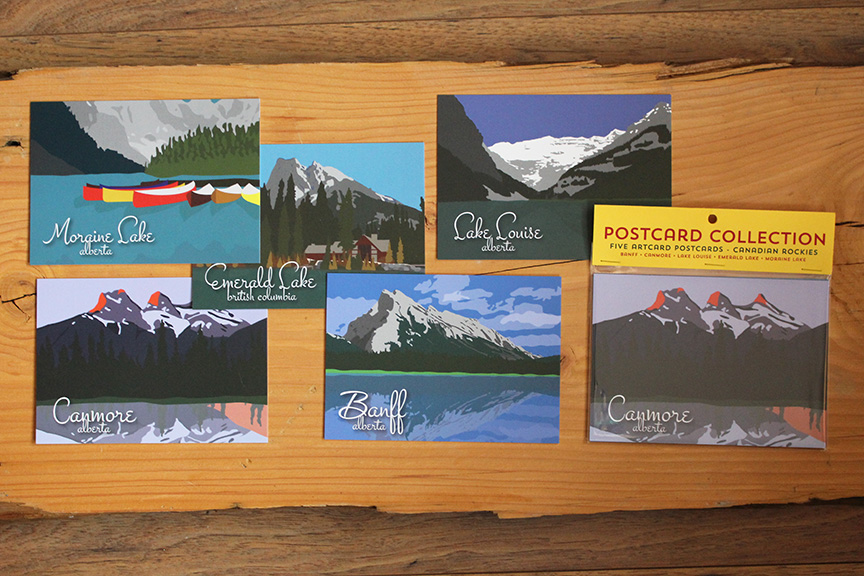 Canadian Rockies Postcard Collection Wedding Favours