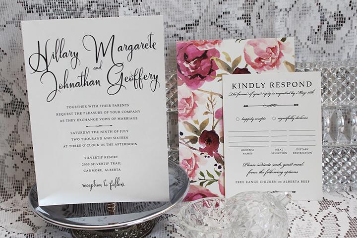 Wedding Invitations Calgary Classic Elegant Vintage