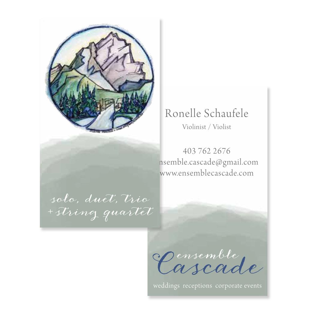 Emsemble Cascade Banff Branding Logo Graphic Design