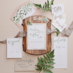 Greenery Wedding Invite Calgary