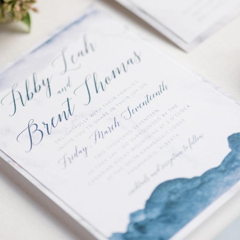 Abby Suite - Watercolour Wedding Invite Calgary