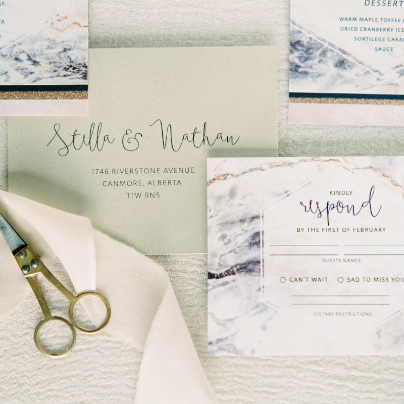 Nathan Suite - Modern Marble Invite