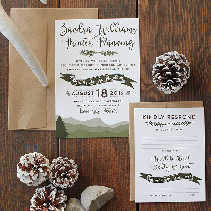 Sandra Suite - Boho Mountain Invitation