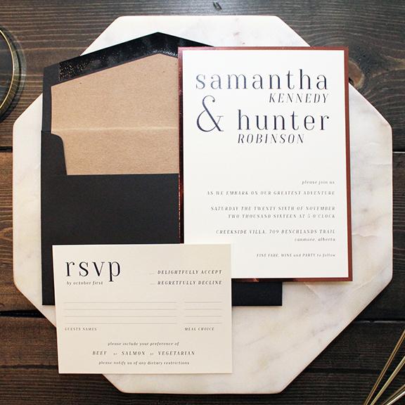 Hunter Suite - Modern Contemporary Serif Invitation