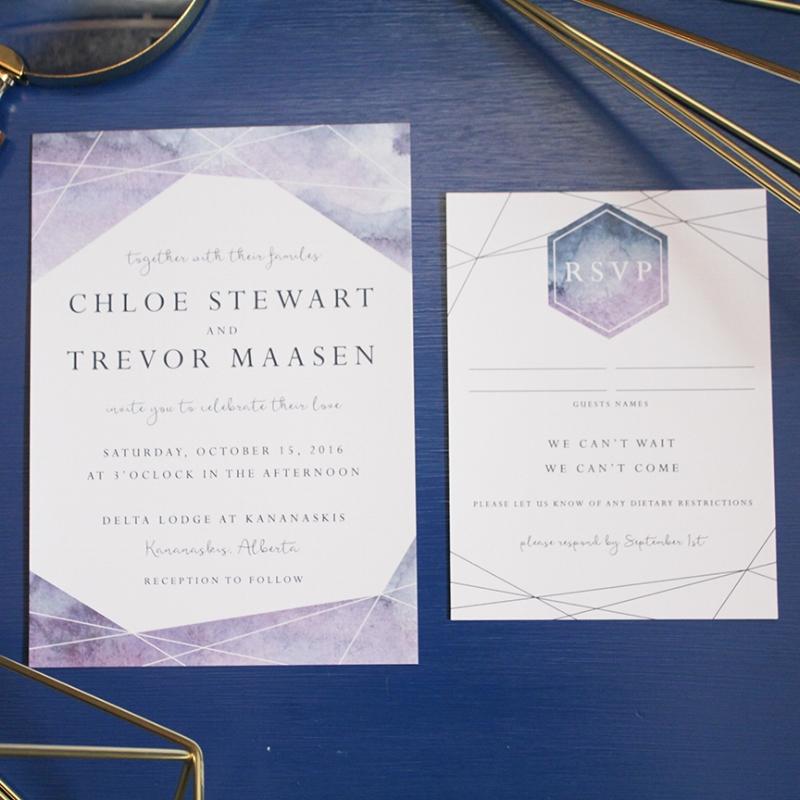 Chloe Suite - Geometric Watercolour Invitation