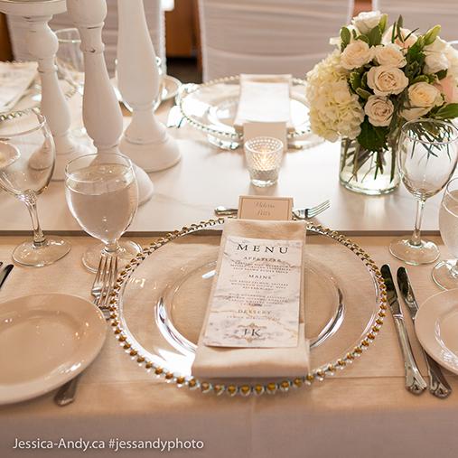 Wedding Reception Menu Marble Modern Calgary Canmore Banff