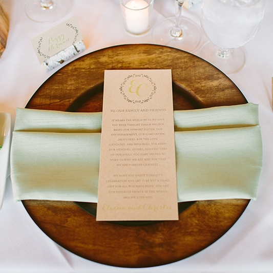 Wedding Reception Menu Canmore Banff Calgary