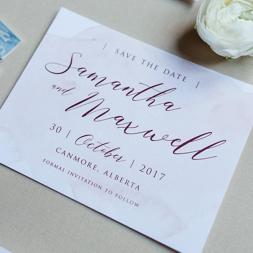 Merlot Blush Wedding Save the Date