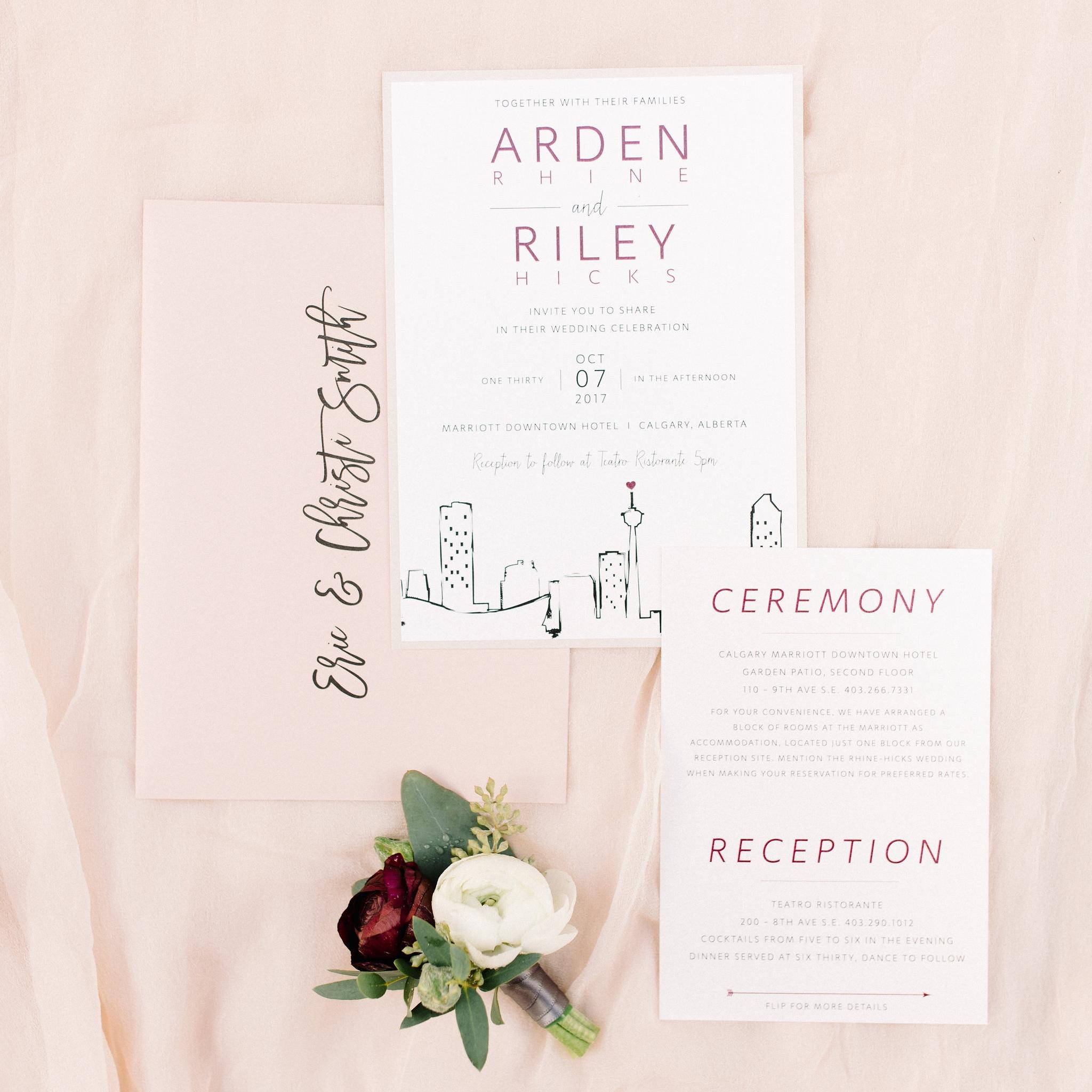 Calgary Tower Wedding Invite