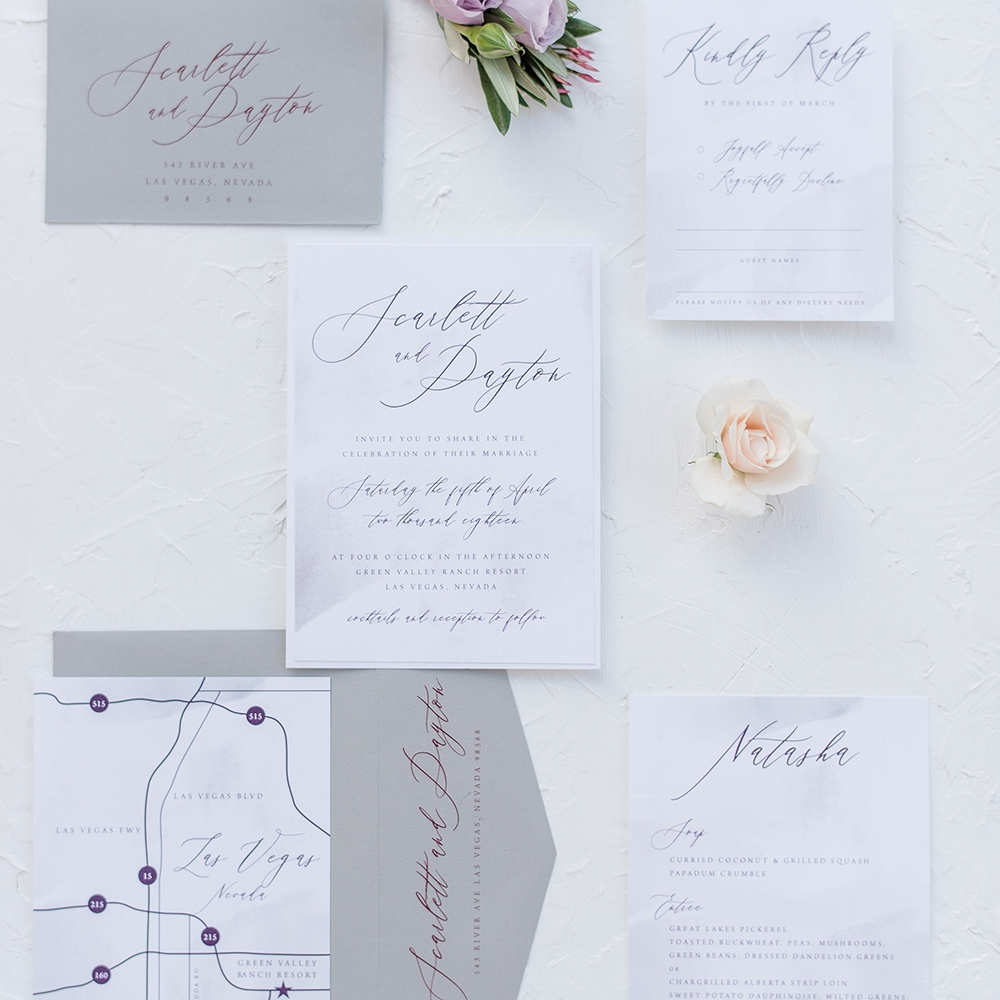 Scarlett - Modern Romantic Calligraphy Invite Suite
