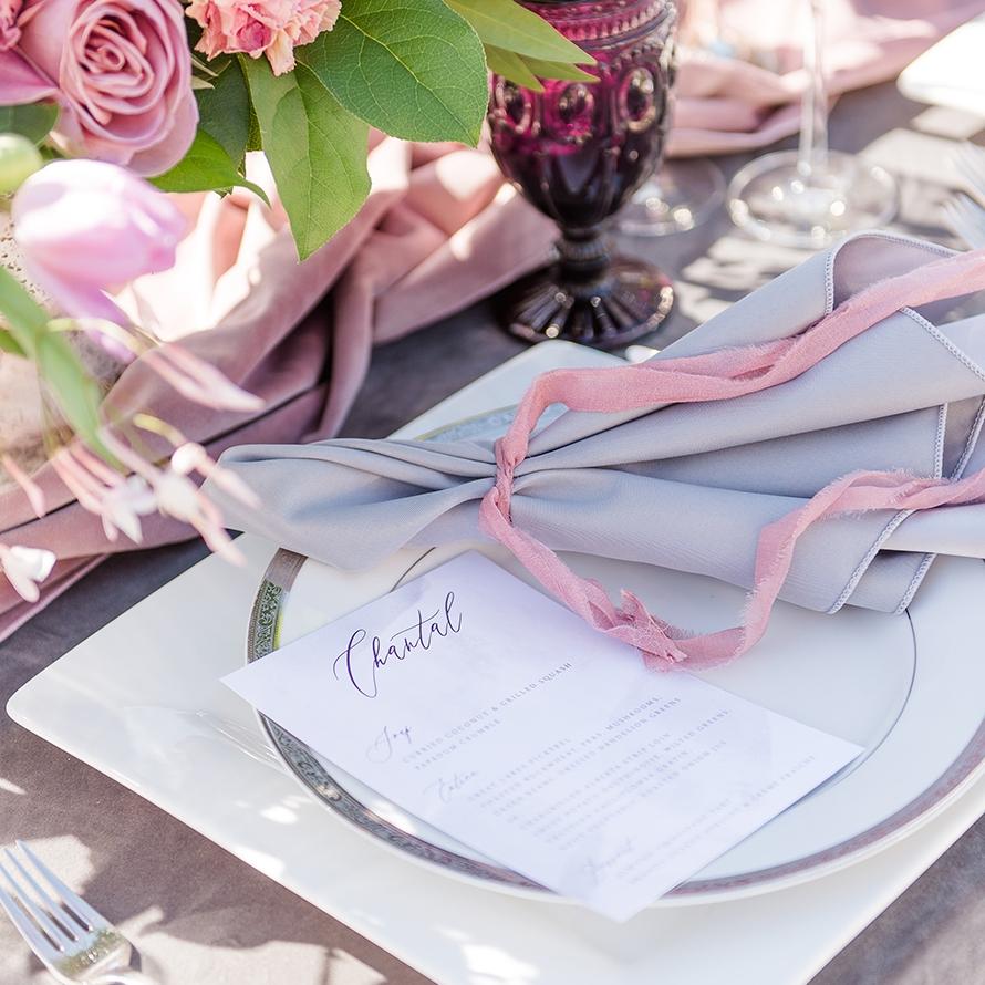 Scarlett Modern Romantic Calligraphy Invitation Suite